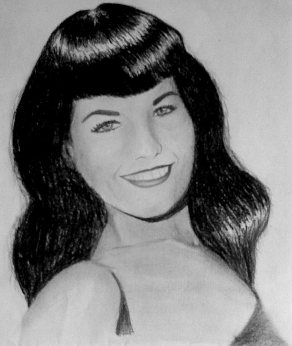 Bettie Page by rolie